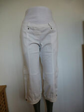 9Monate Maternity 7/8 Cargo Trousers Maternity Trousers Size 34 - 40 White New