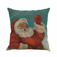 Merry Christmas Festival Pillow Cover Santa Claus Printing Dyeing Sofa Bed Home