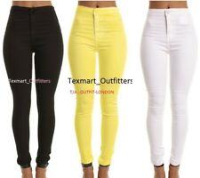 WOMENs High Waisted Skinny JEANS Jeggings Ladies jeans: 6, 8,10,12,14,16