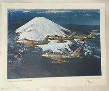 NORTH AMERICAN AVIATION FJ FURY vintage litho print MARINES