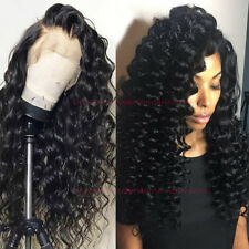 Brazilian Virgin Human Hair 360 Lace Frontal Full Lace Wigs Loose Wave Curly Wig