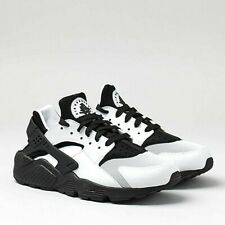 Nike Air Womens Unisex Huarache Run Running Sports Shoes Trainers White Black