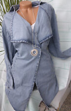 Sheego Giacca Trench Giacca in Jeans Cardigan Cappotto Tgl 46 Blu Denim (255)