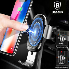 Baseus 10W Qi Wireless Caricabatterie Caricatore Auto Mount Per Samsung Note9/S9