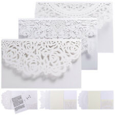 Elegant Invitations Cards Kit 10PC Laser Cut Wedding Party with Printable Paper