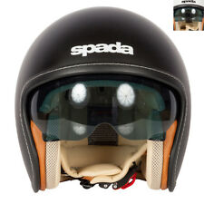 New - Spada Raze Open Face Cruiser Motorcycle Helmet (Plain Colours)