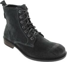 Frank Wright Call Mens Burnished Grey Oiled Suede Lace Up Combat Ankle Boots New