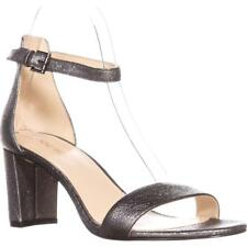 Nine West Pruce Sandalias Tira en Tobillo, Estaño