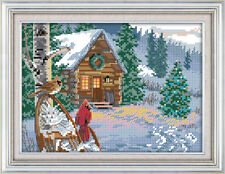 Wintercabin Cross Stitch Kit | 11ct or 14ct | Printed or Unprinted