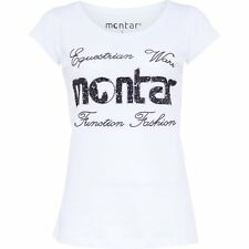 Montar Sequin Womens T-shirt - White All Sizes