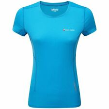 Montane Claw Ss Womens T-shirt Sports Top - Cerulean Blue All Sizes