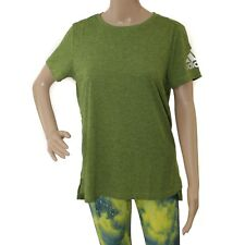 Womens Adidas Climachill Heathered Lime Green T-Shirt (TGA17) RRP £29.99