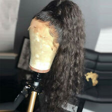 8A Real Remy Peruvian Virgin Human Hair 360 Lace Frontal Wig Unprocessed Wavy 1B