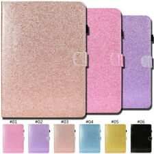 Stand Smart Glitter Card Wallet PU Leather Bling Shine Case Cover For Apple iPad