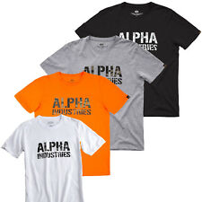 Alpha Industries Camiseta Hombre Camuflaje Estampado Parte Superior S hasta 3XL