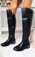 IKRUSH Womens Melba Faux Leather Over Knee Boots