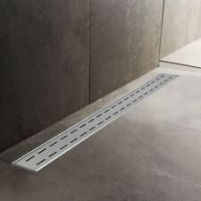 600mm to 1500mm Stainless Steel Wetroom Shower Drain Channel Trap Gully (#2)