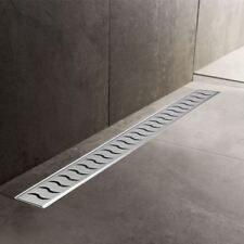 600mm to 1500mm Stainless Steel Wetroom Shower Drain Channel Trap Gully (#4)