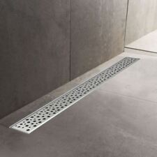 600mm to 1500mm Stainless Steel Wetroom Shower Drain Channel Trap Gully (#6)