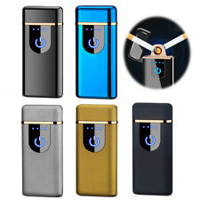 Touch Induction USB Electric Dual Arc Lighter Flameless Rechargeable Windproof