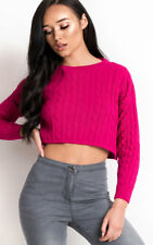 IKRUSH Womens Lima Cropped Cable Knit Jumper