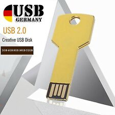 Chiave Chiavetta USB Oro 64GB 32GB 16GB 8GB 4GB 2GB 1GB Design Chiave
