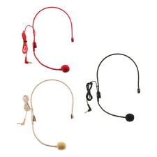 Uni-directional 3.5mm Wired Headset Microphone Condenser Mic for Tour Guide