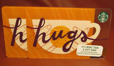 Lot of 2 Starbucks 2018 hugs Gift Cards New with Tags