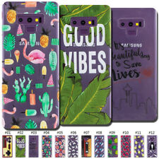 For Samsung Galaxy Soft Cute Case Cover Back Clear Silicone TPU Protective Skin