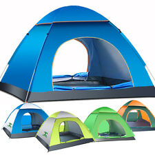 3-4 Person Pop Up Tent Outdoor Camping Automatic Tent Sun Shelter Anti-UV Beach
