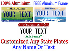 Alabama  License Plate Personalized Custom Any Name Or Text