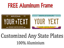 Arizona State License Plate Personalized Custom Any Name Or Text,frame