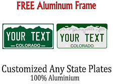 Colorado State License Plate Personalized Custom Any Name Or Text