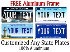 Connecticut State License Plate Personalized Custom Any Name Or Text
