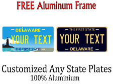 Delaware State License Plate Personalized Custom Any Name Or Text
