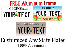 Georgia State License Plate Personalized Custom Any Name Or Text