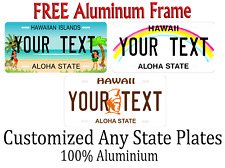 Hawaii License Plate Personalized Custom Any Name Or Text