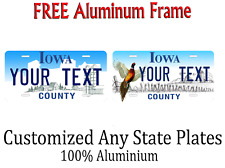 Iowa State License Plate Personalized Custom Any Name Or Text