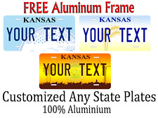 Kansas State License Plate Personalized Custom Any Name Or Text