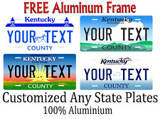 Kentucky State License Plate Personalized Custom Any Name Or Text