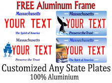 Massachusetts State License Plate Personalized Custom Any Name Or Text
