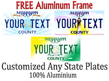 Mississippi State License Plate Personalized Custom Any Name Or Text
