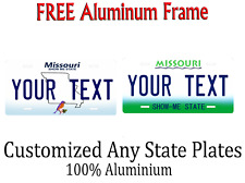 Missouri State License Plate Personalized Custom Any Name Or Text