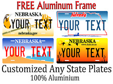 Nebraska State License Plate Personalized Custom Any Name Or Text