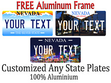 Nevada State License Plate Personalized Custom Any Name Or Text