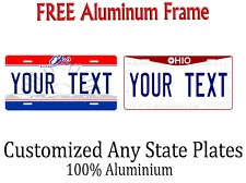 Ohio State License Plate Personalized Custom Any Name Or Text