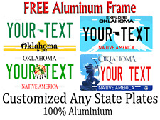 Oklahoma State License Plate Personalized Custom Any Name Or Text