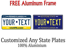 Pennsylvania State License Plate Personalized Custom Any Name Or Text