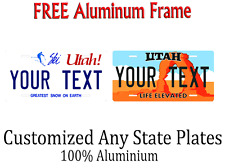 Utah State License Plate Personalized Custom Any Name Or Text