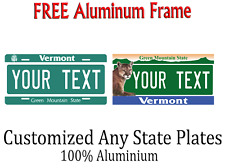 Vermont State License Plate Personalized Custom Any Name Or Text
